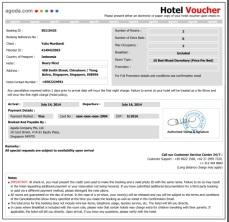 Beary nice hotel voucher