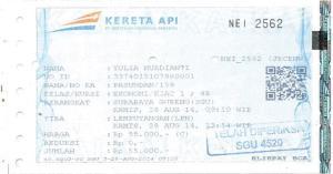 Tiket KA SBY-YOG 280814