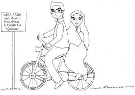 Karikatur Cak Her BW