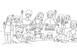 Karikatur Explore Bawean BW