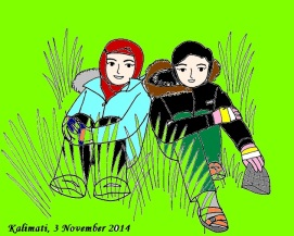 Karikatur Gadis Kalimati Color