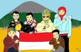 Karikatur Semeru-color